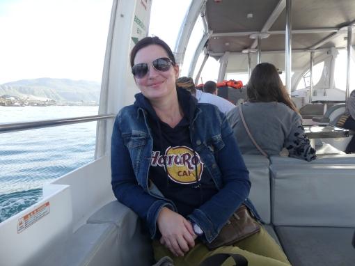 op zoek naar de walvissen, (bijna) iedereen ziek, maar mij gaat dat goed af!