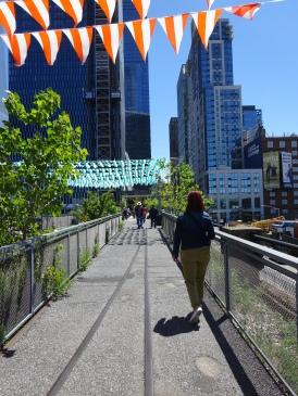 High Line, aan de start nog rustig