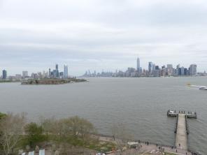 uitzicht vanop Liberty Island