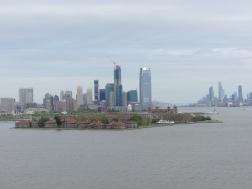 uitzicht op Ellis Island