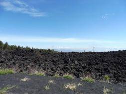 flanken van Etna onderweg